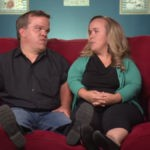 Amber and Trent Johnston in a 7 Little Johnstons confessional.