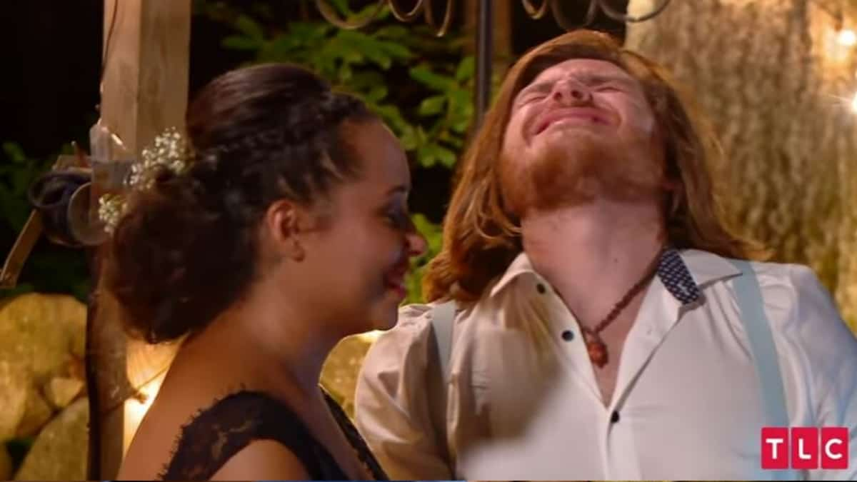 90 Day Fiance: Syngin's face while getting his first tattoo on his wedding day