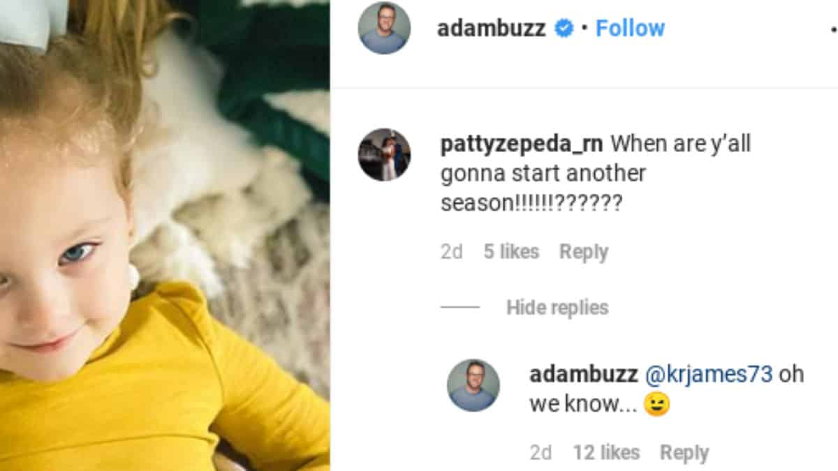 Adam Busby Instagram comments.