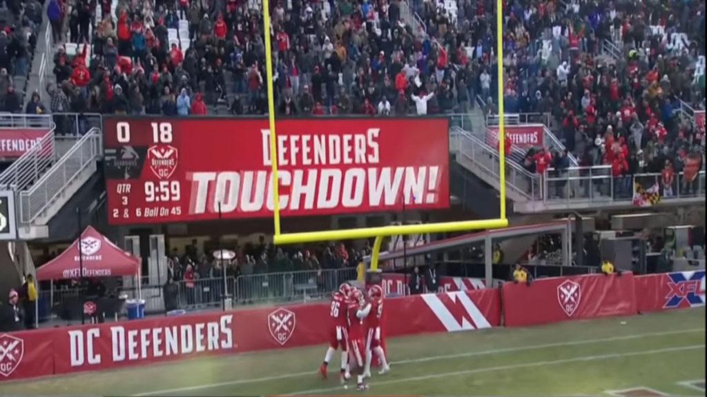 DC Defenders Touchdown