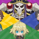 Isekai Quartet Season 3 artwork featuring characters from Cautious Hero, BOFURI, Plunderer, So I'm A Spider, So What?