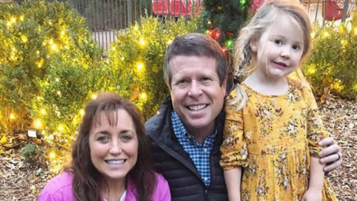 Jim Bob and Michelle Duggar with their granddaughter.