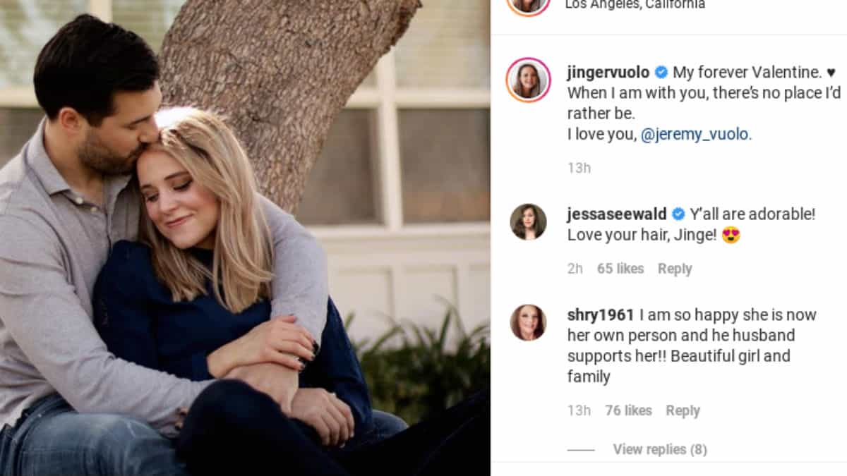 Jessa Duggar supports Jinger Duggar on Instagram.