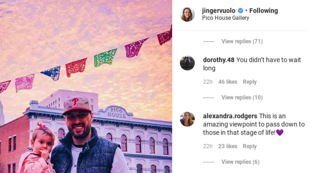 Jinger Duggar's Instagram comments.