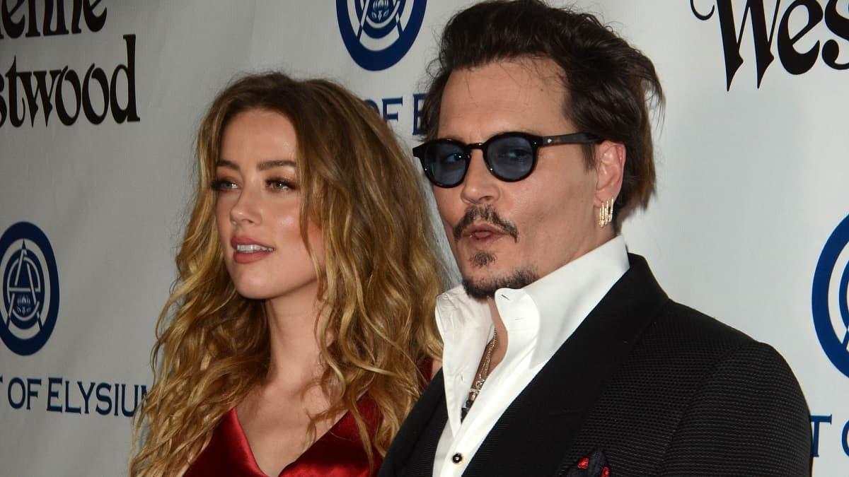 Actor Johhny Depp and actress Amber Heard