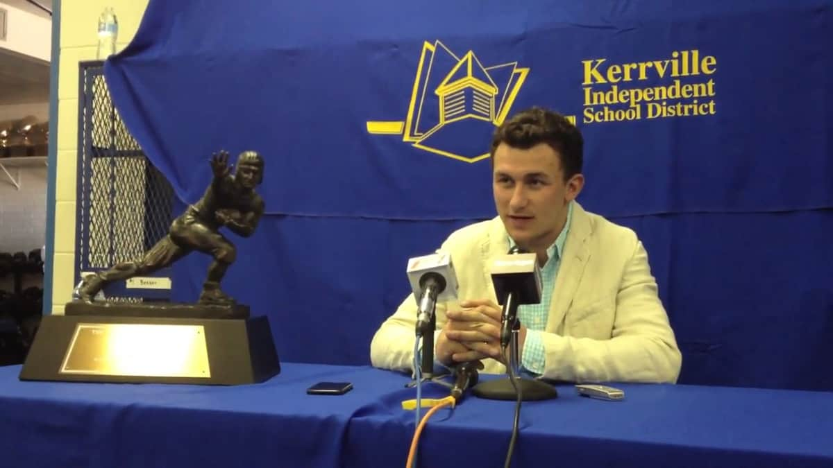 former heisman winner johnny manziel