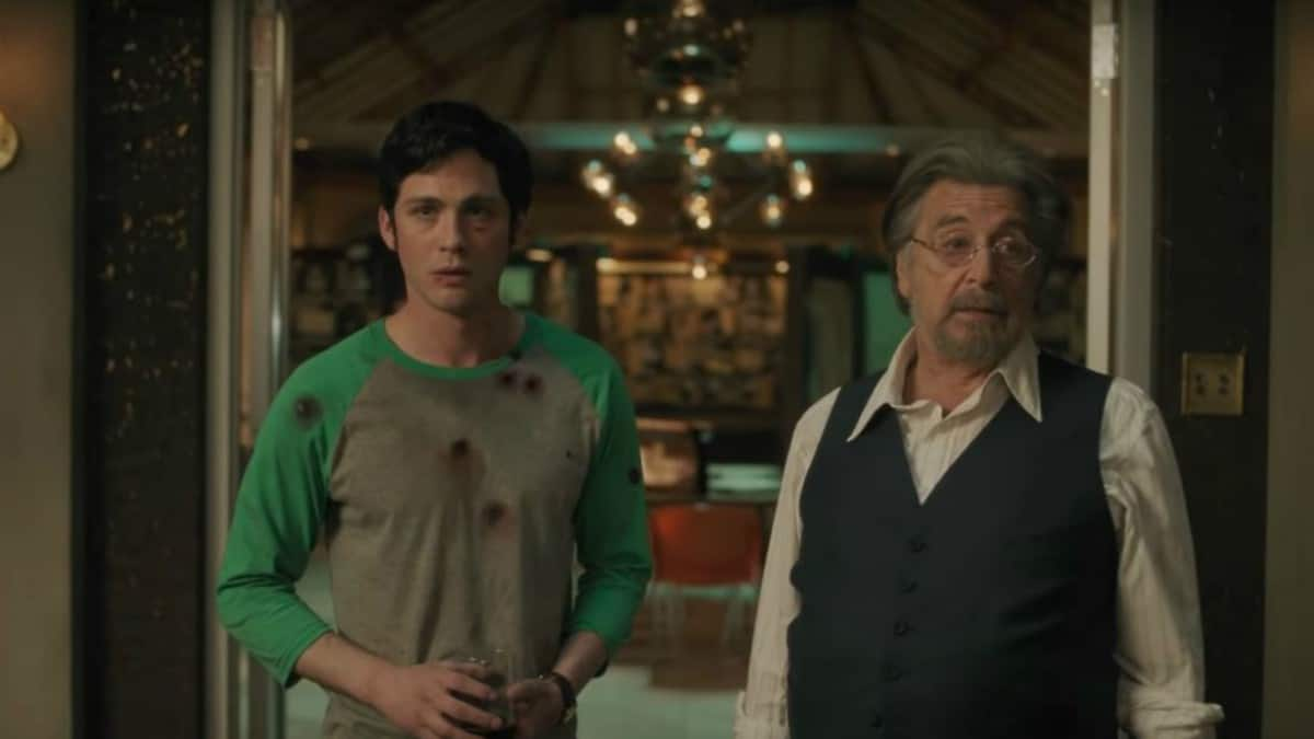 Logan Lerman and Al Pacino from Hunters