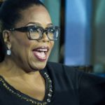 Oprah Winfrey speaks on stage