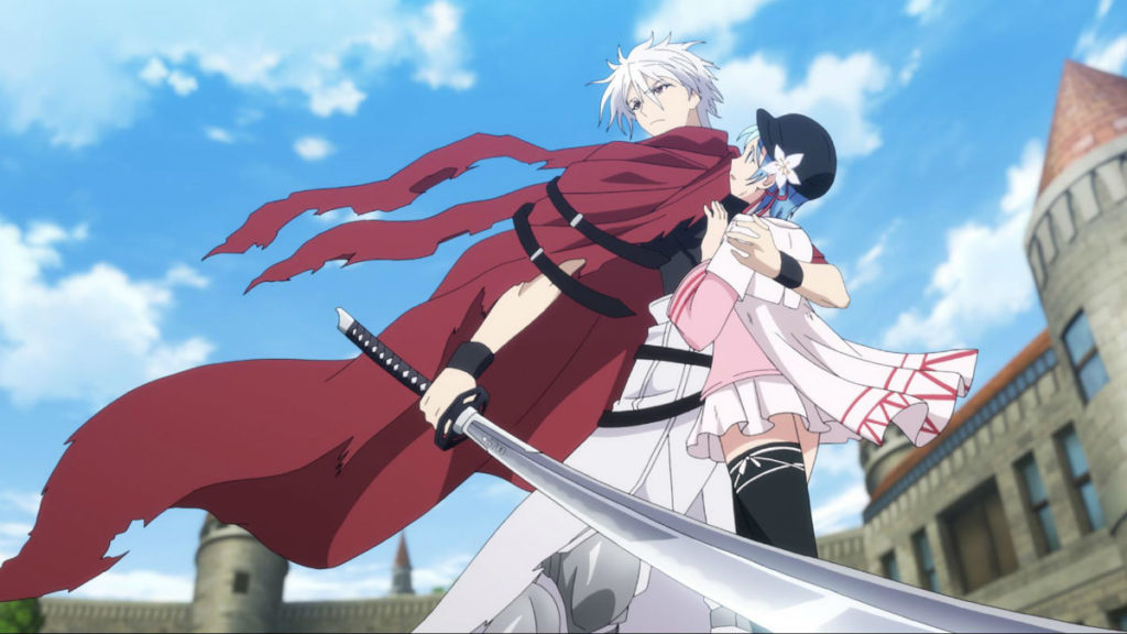 Licht and Hina in the Plunderer anime