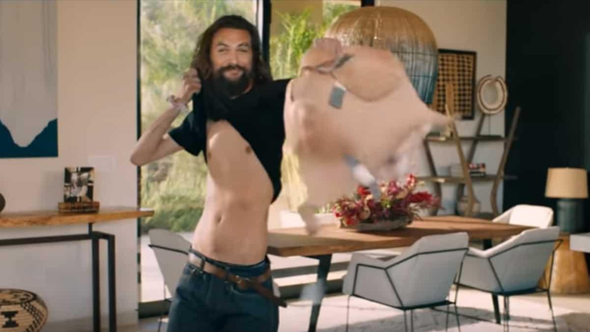 Jason Momoa in commercial