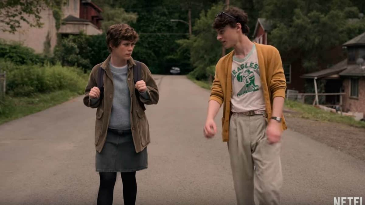 Sophia Lillis and Wyatt Cleff in I Am Not Okay With This