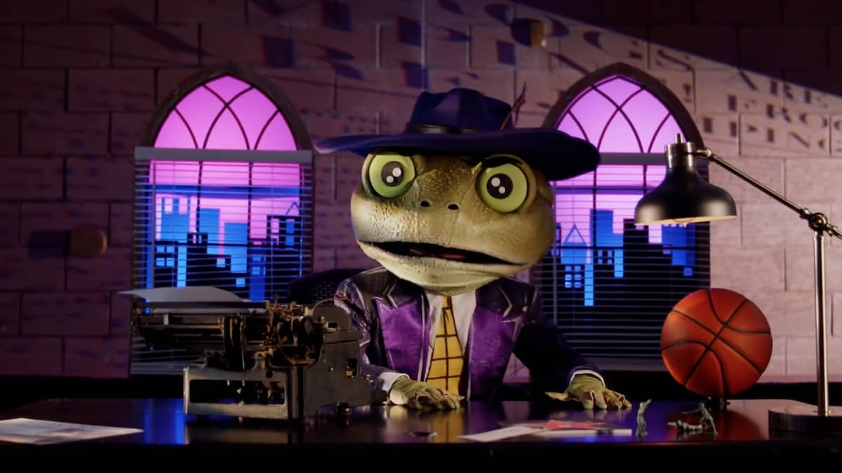 The Frog teases panelists with new clues on The Masked Singer. Pic credit: FOX
