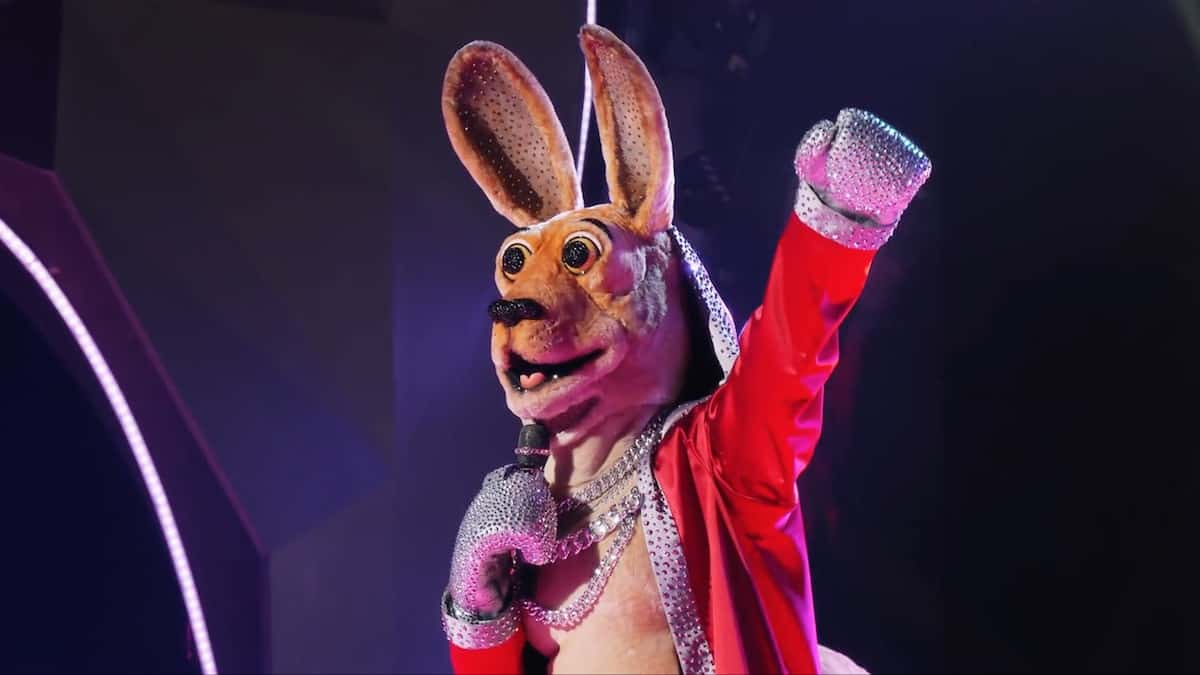 The Kangaroo performs on The Masked Singer. Pic credit: FOX