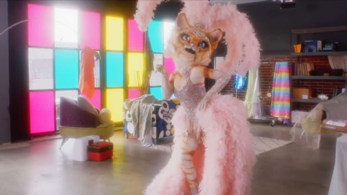 The Kitty teases panelists with new clues on The Masked Singer. Pic credit: FOX