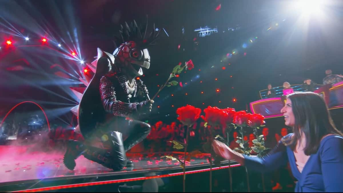 The Turtle sings Kiss From a Rose on The Masked Singer. Pic credit: FOX