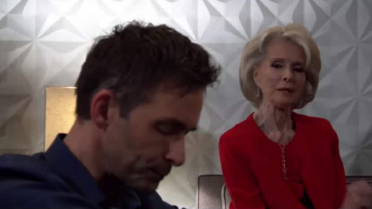 James Patrick Stuart and Constance Towers as Valentin and Helena on General Hospital