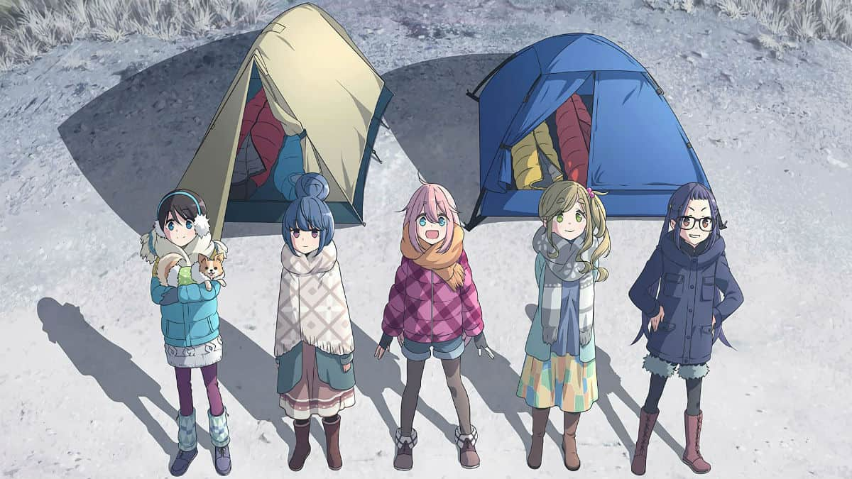 The girls in Yuru Camp