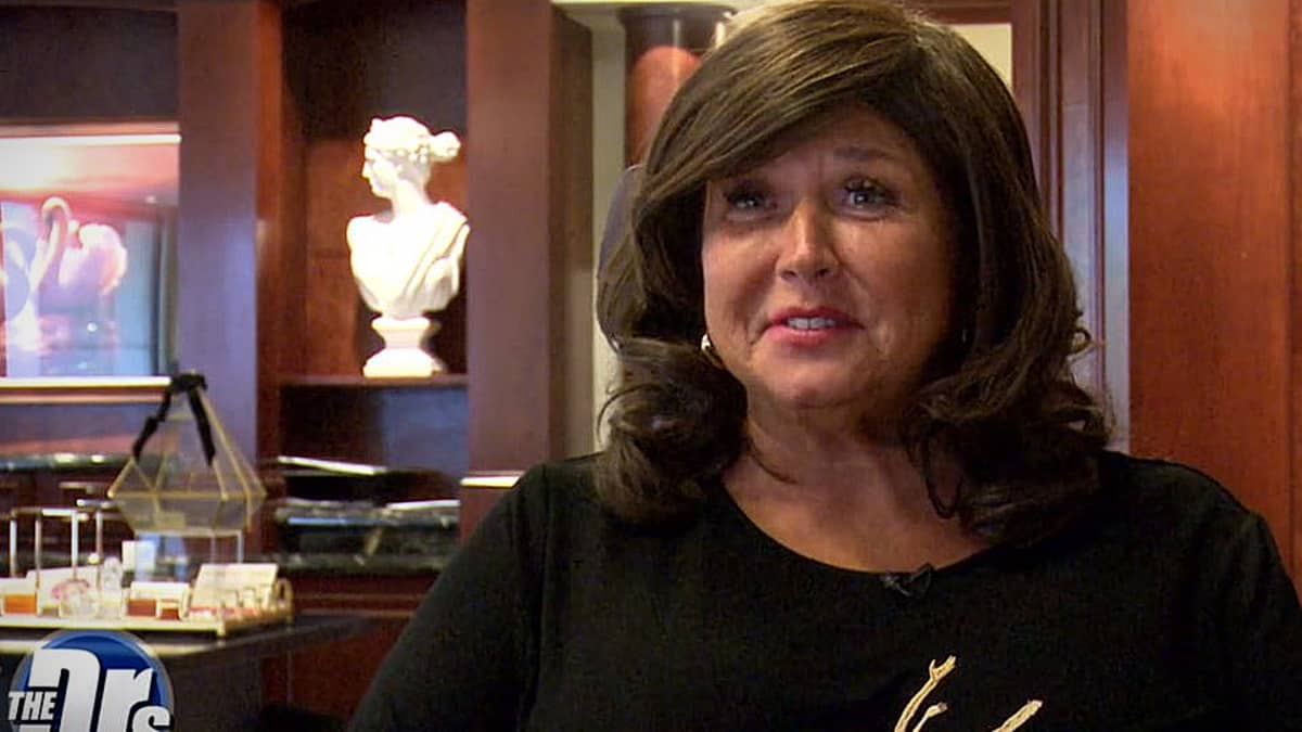 Abby Lee ahead of the surgery, she's nervous about needles and pain! Pic credit: The Doctors