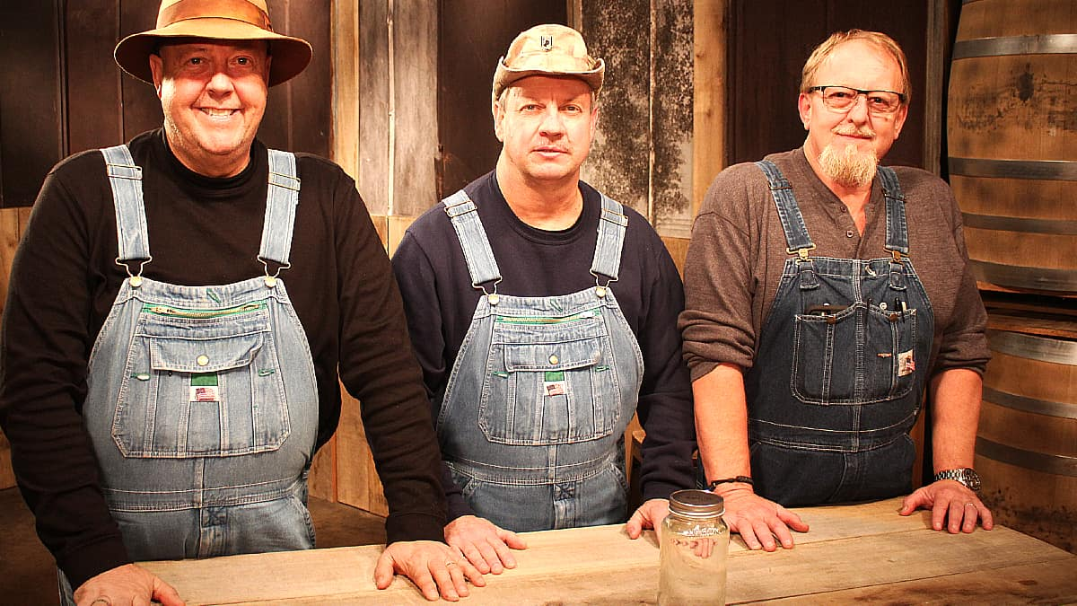 Mark, Jeremy & Tim at judges table for Master Distiller. Pic credit: Discovery