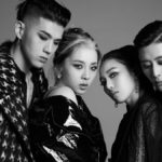 KARD posing for second group picture for Red Moon