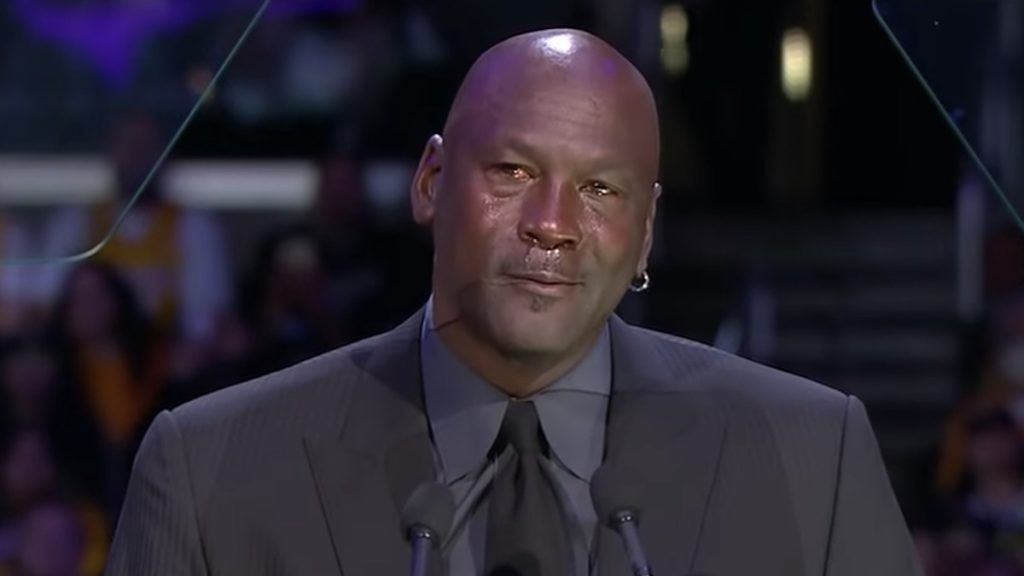 michael jordan gives speech at kobe bryant memorial