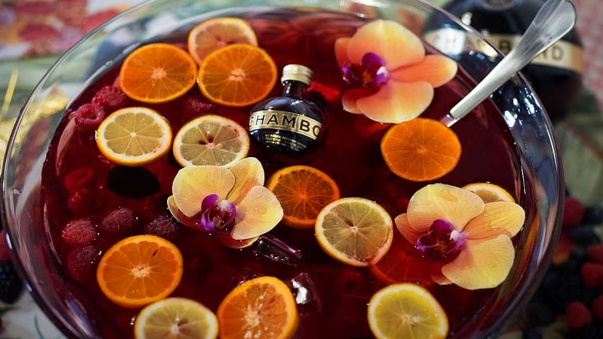 Think of this as a time saver, batching out a lovely cocktail for a crowd- it's a terrific recipe. Pic credit: Chambord.