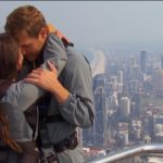 Bachelor Peter Weber hugs Madison on Fantasy Suite Week Date while Bungee Jumping