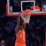 zion williamson dunk in nba rising stars challenge 2020