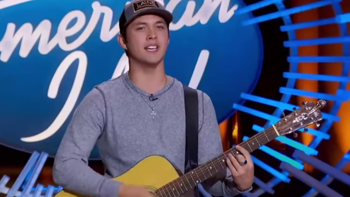 Laine during his second audition for American Idol