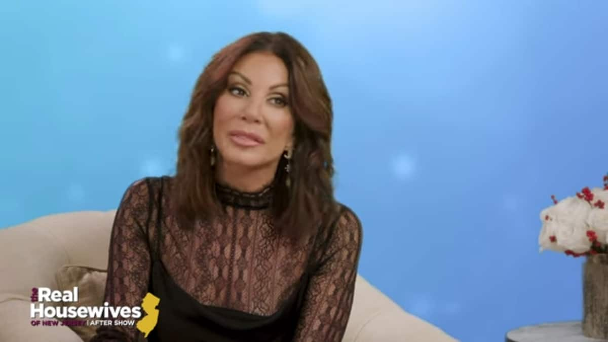 Danielle Staub is interviewed on the aftershow