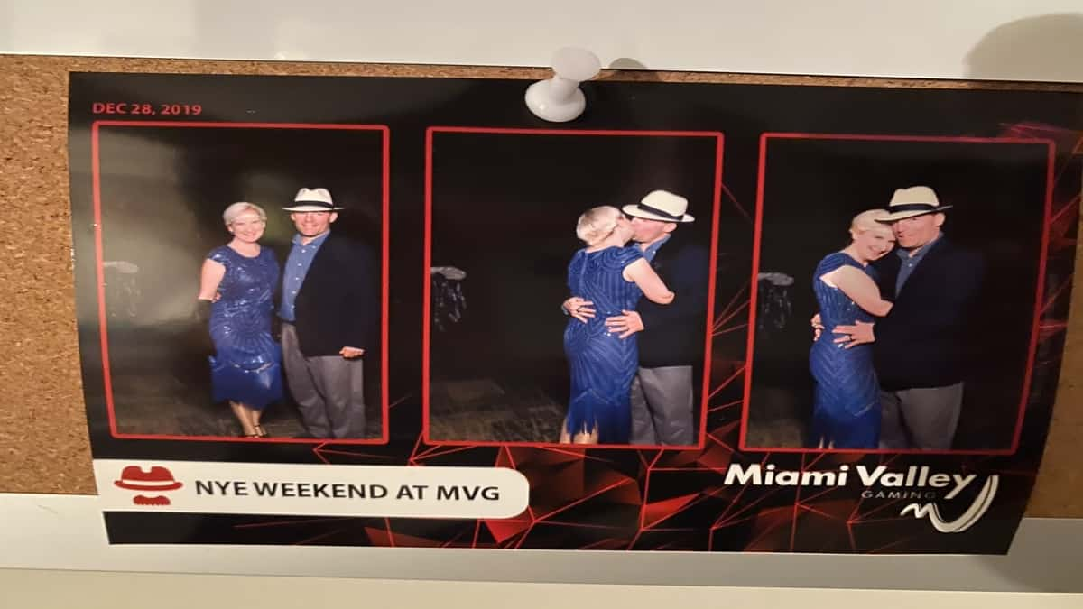 A non-The Bachelor pilot and his wife embrace in a series of three images.