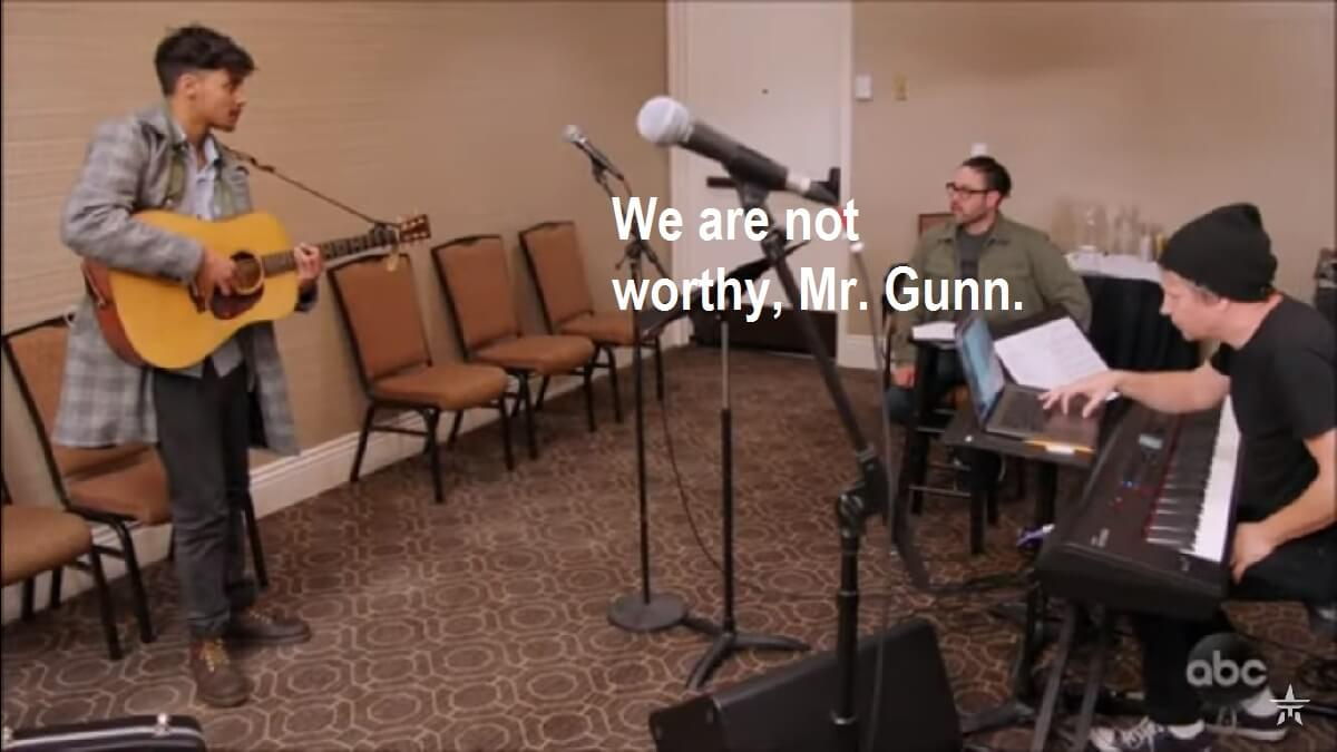 The band tells Arthur Gunn they are not worthy