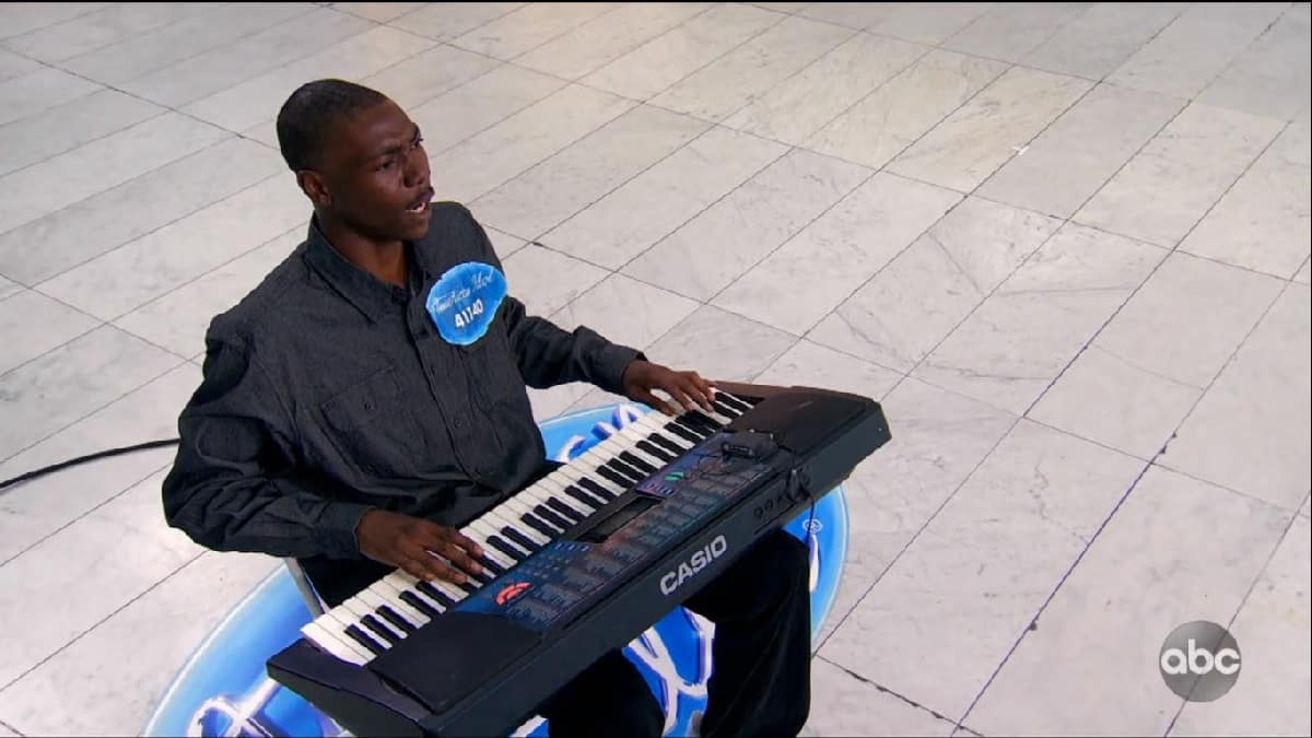 Idol contestant Mosean Wilson auditions with his keyboard