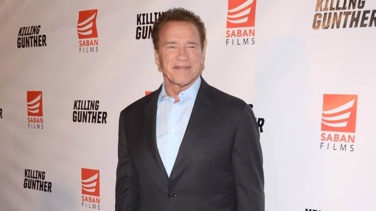 Arnold Schwarzenegger on the red carpet