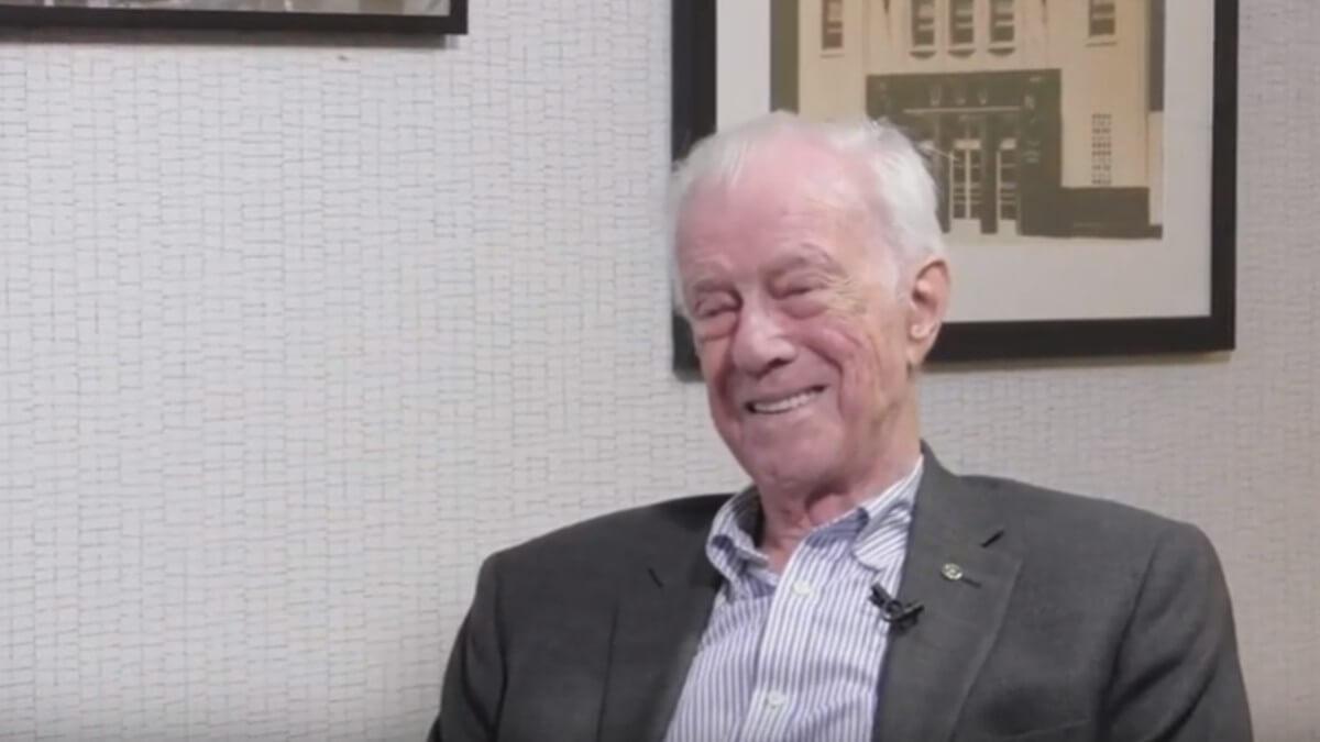 Bob Allison being interviewed