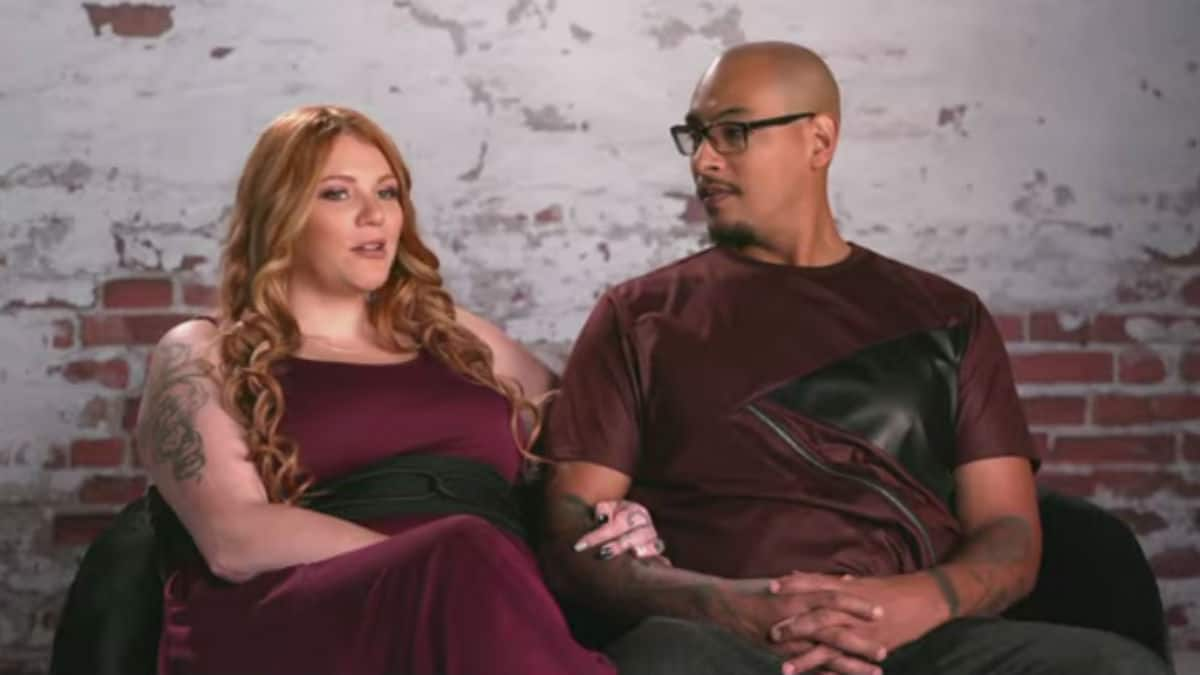 Brittany and Marcelino in a confessional for Life After Lockup.