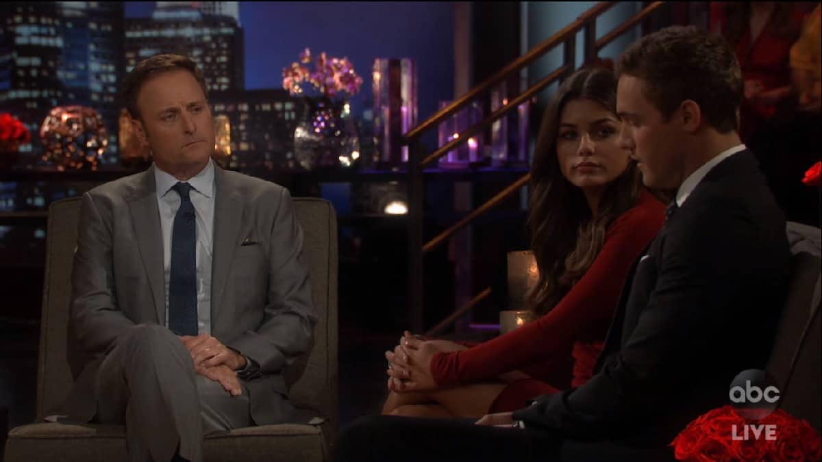 Chris Harrison talks to Madison and Peter on The Bachelor live season finale, part 2