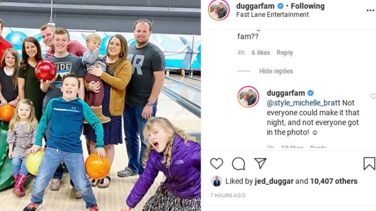 Duggar family outing photo.