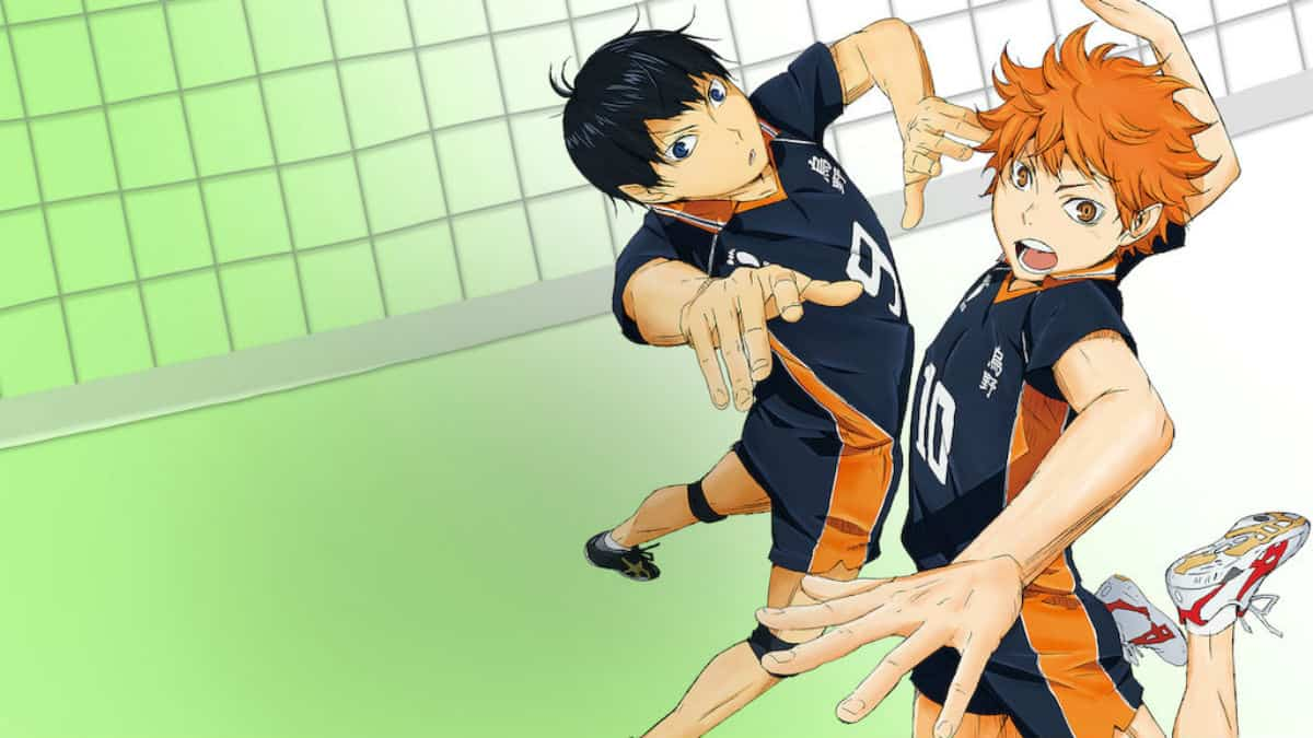 Jostling for the ball in Haikyuu