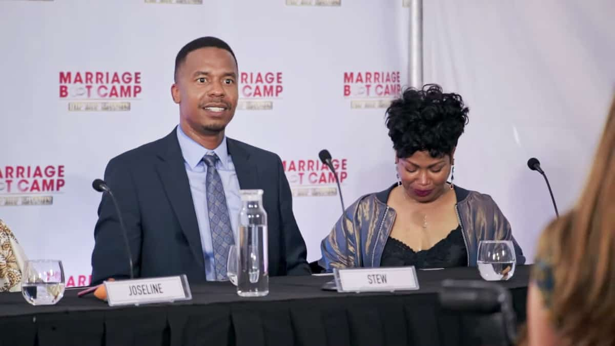 Stew and Michel'le on Marriage Boot Camp: Hip Hip Edition