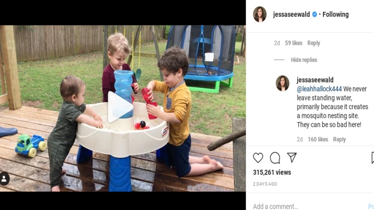 Jessa Duggar responding to a follower.