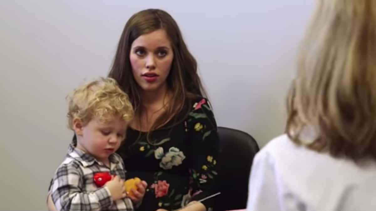 Jessa Duggar with Henry during his evaluation on Counting On.