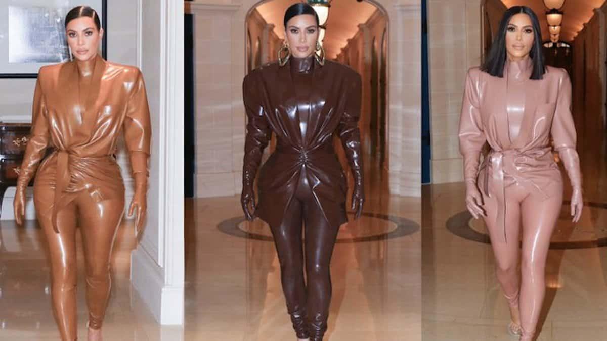 Kim Kardashian goes full latex for Paris Fashion Week Pic Credit: @kimkardashian/Instagram