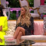 Kyle Richards, Teddi Mellencamp, and Dorit Kemsley during RHOBH Season 9 reunion.