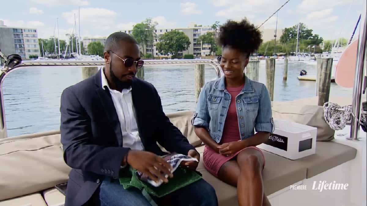 MAFS couple Meka and Michael celebrate their one-month anniversary on a boat