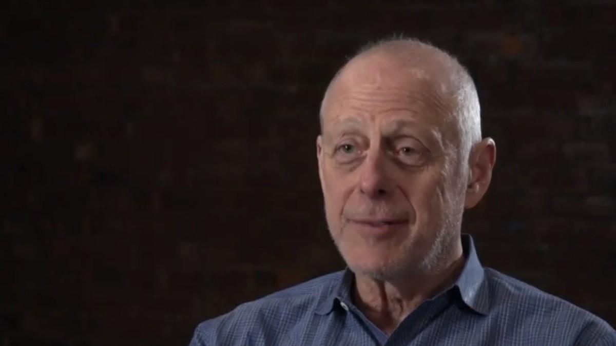 Mark Blum being interviewed