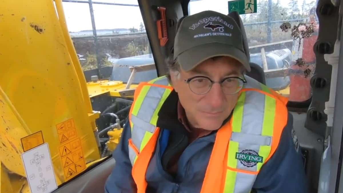 Marty Lagina of Oak Island in a digger