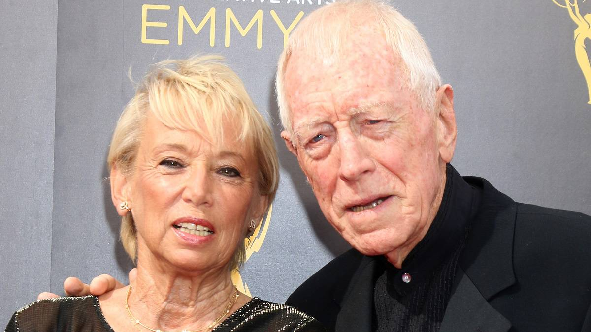 Actor Max von Sydow and wife Catherine Brelet
