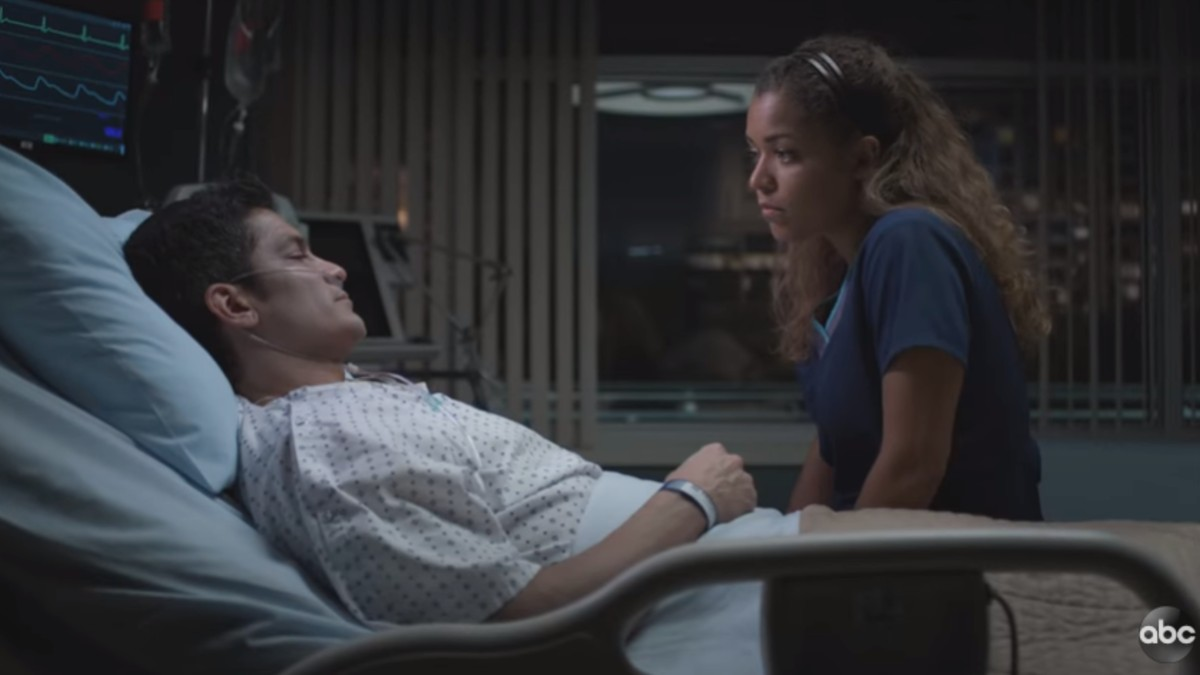 Nicholas Gonzalez dying in a hospital bed