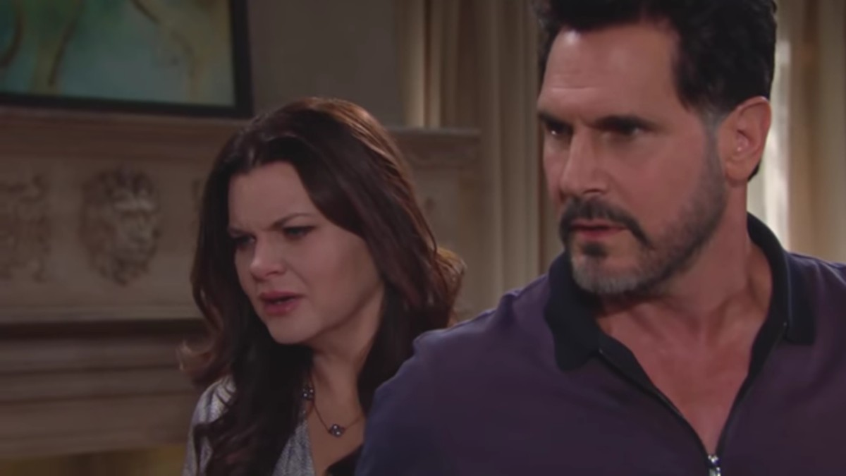 Heather Tom and Don Diamont as Katie and Bill on The Bold and the Beautiful.